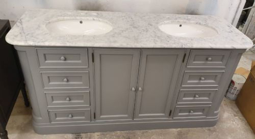 Bespoke Large Double Vanity Unit with 8 Drawers
